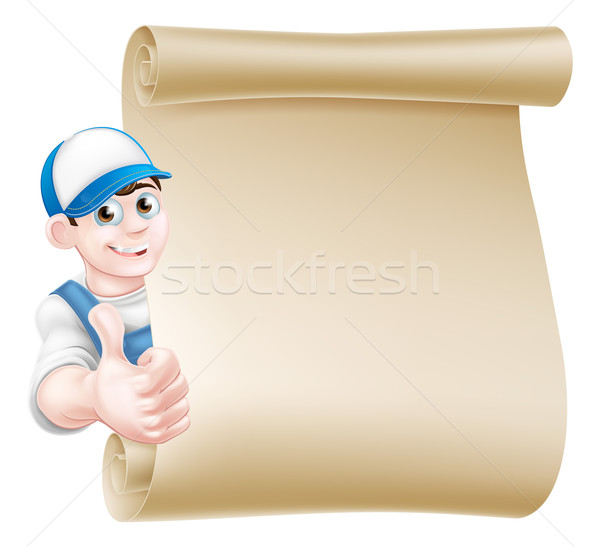 Thumbs up mechanic scroll Stock photo © Krisdog