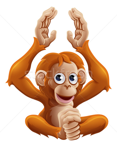 Cartoon OrangUtan Animal Character Stock photo © Krisdog