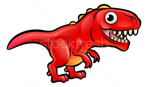 Tyrannosaurus Rex Dinosaur Cartoon Character Stock photo © Krisdog