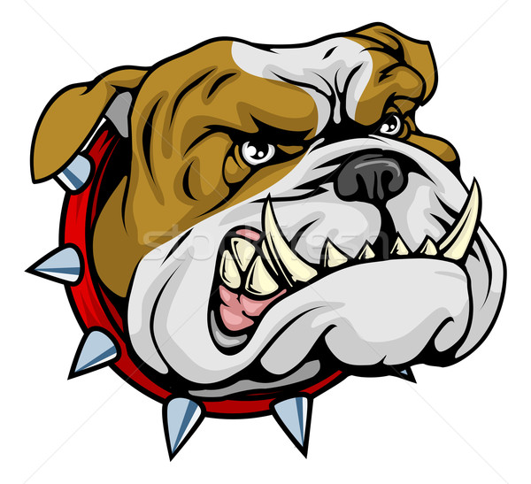Mean bulldog mascot illustration Stock photo © Krisdog