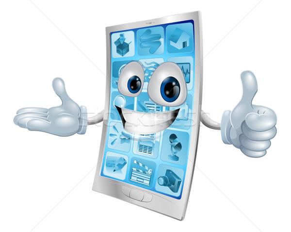 Mobile phone character Stock photo © Krisdog
