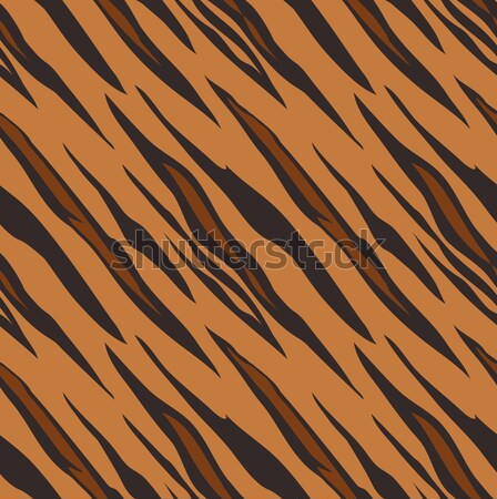 Tiger skin seamless tiling animal print pattern Stock photo © Krisdog