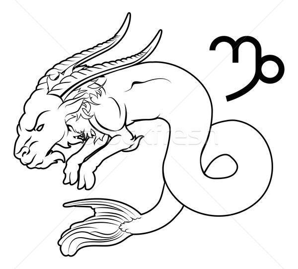 Capricorn zodiac horoscope astrology sign Stock photo © Krisdog