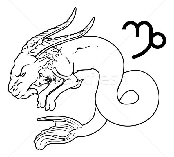 Zodiac horoscope astrologie signe illustration mer Photo stock © Krisdog