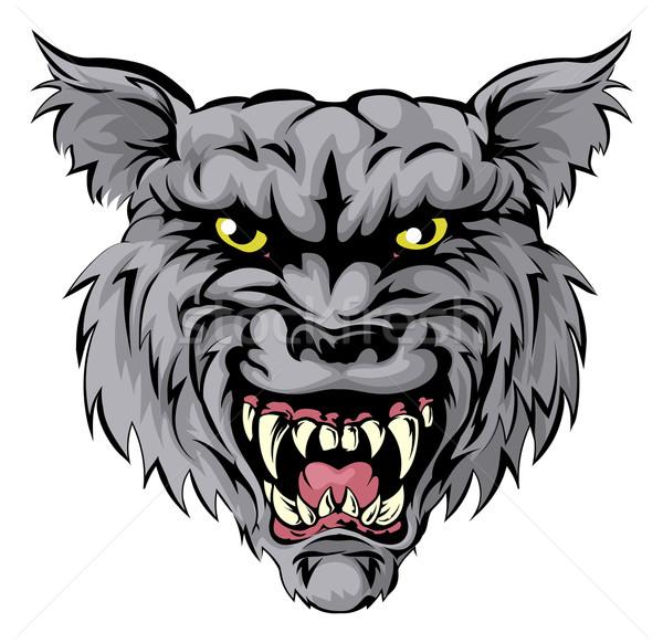 Wolf mascot character Stock photo © Krisdog