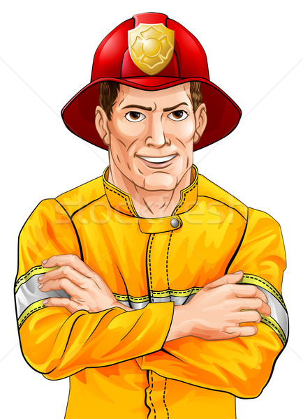 Happy fireman Stock photo © Krisdog