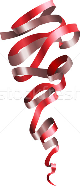 pretty shiny curly ribbon scroll Stock photo © Krisdog