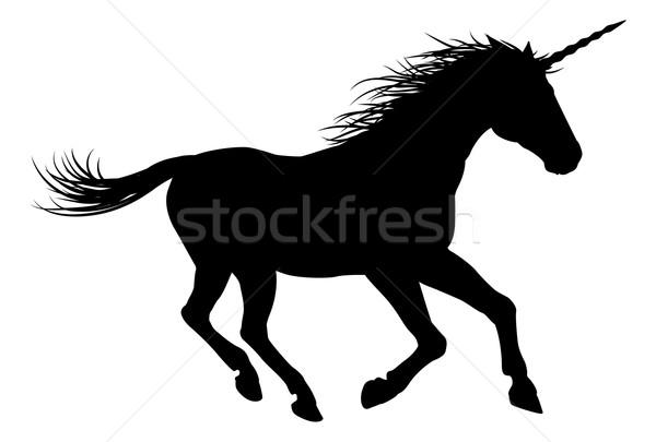 лошади мифический силуэта фон ног ходьбе Сток-фото © Krisdog