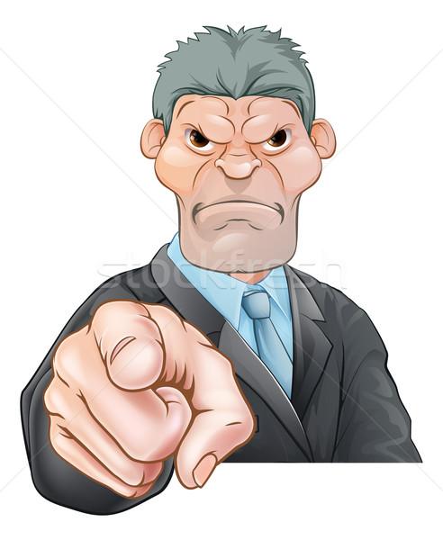 Angry Businessman Pointing Stock photo © Krisdog