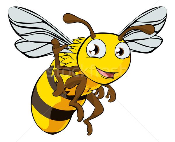 Stockfoto: Cartoon · bee · illustratie · cute · kunst