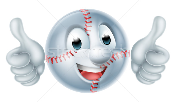 Softball Ball Man Cartoon Character Stock photo © Krisdog