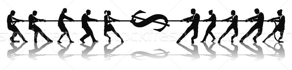 войны доллара деньги деловые люди Сток-фото © Krisdog