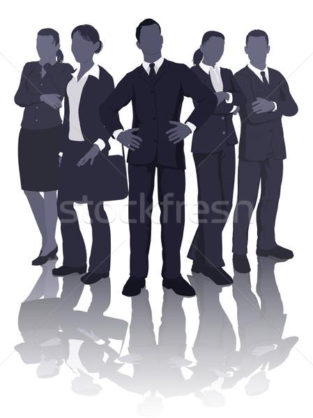 Business team illustratie dynamisch professionele smart kantoor Stockfoto © Krisdog