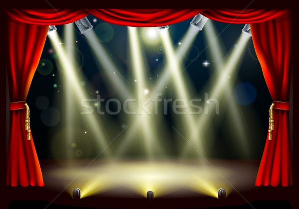 Theater stage lights Stock photo © Krisdog