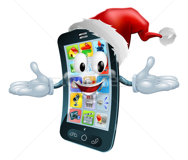 Happy Christmas cell phone Stock photo © Krisdog