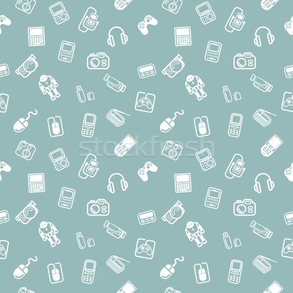 Seamless gadgets background texture Stock photo © Krisdog