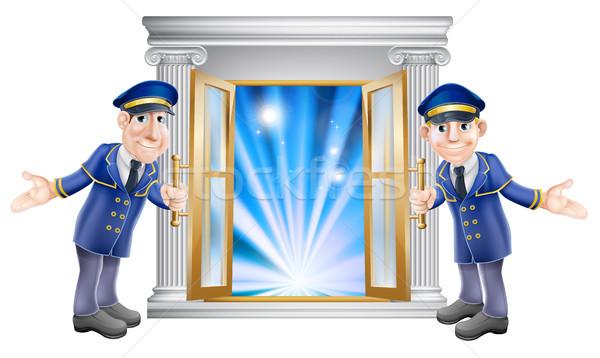 VIP doormen and entrance door Stock photo © Krisdog