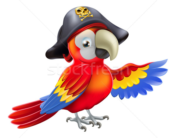 Cartoon pirate parrot Stock photo © Krisdog