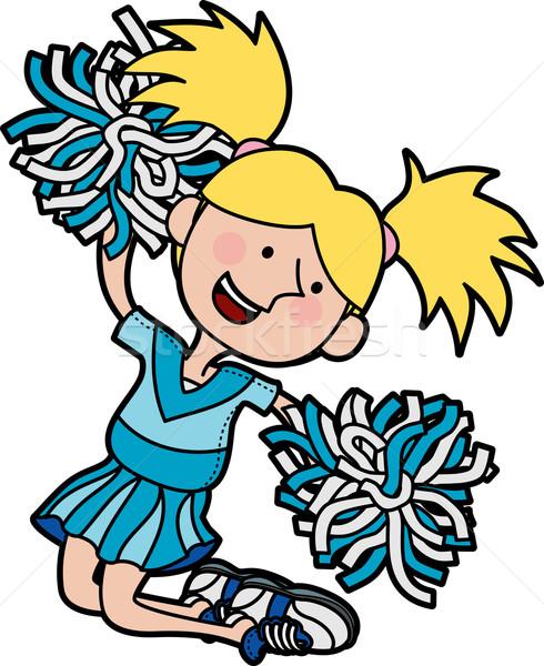 Illustration of cheerleader Stock photo © Krisdog