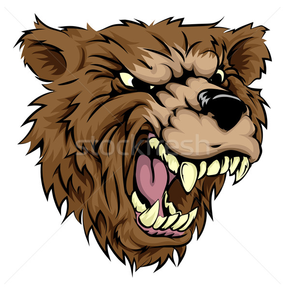Stock photo: Bear mascot character