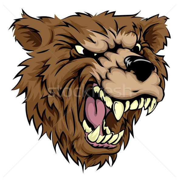 Medve kabala karakter illusztráció vad állat Stock fotó © Krisdog