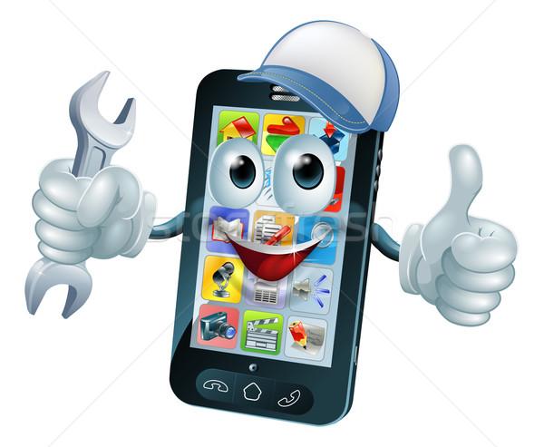 Сток-фото: мобильных · ремонта · талисман · телефон · человек