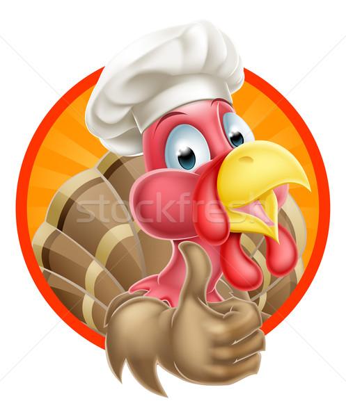 Rajz szakács sapka Törökország kabala remek visel Stock fotó © Krisdog
