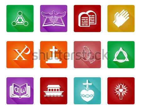 Christian religijnych ikona symbolika książki Zdjęcia stock © Krisdog