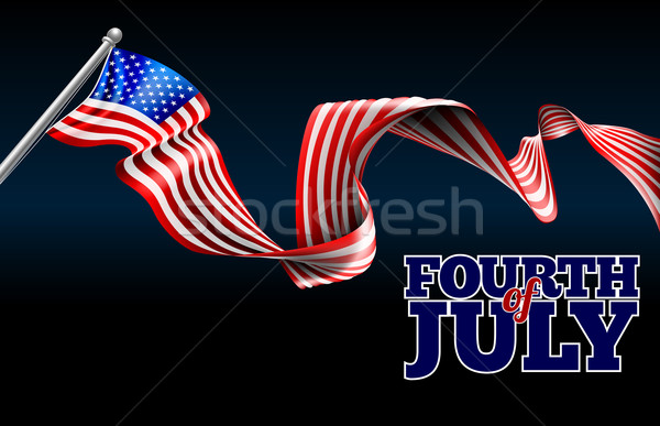 Fourth of July Independence Day American Flag Design Stock photo © Krisdog