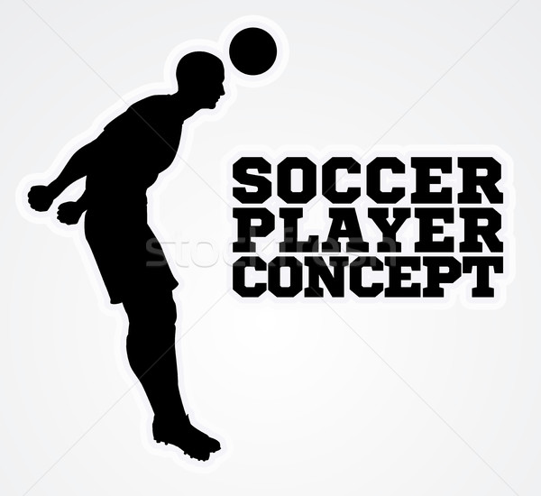 Silhouette Football Player Concept Stock photo © Krisdog