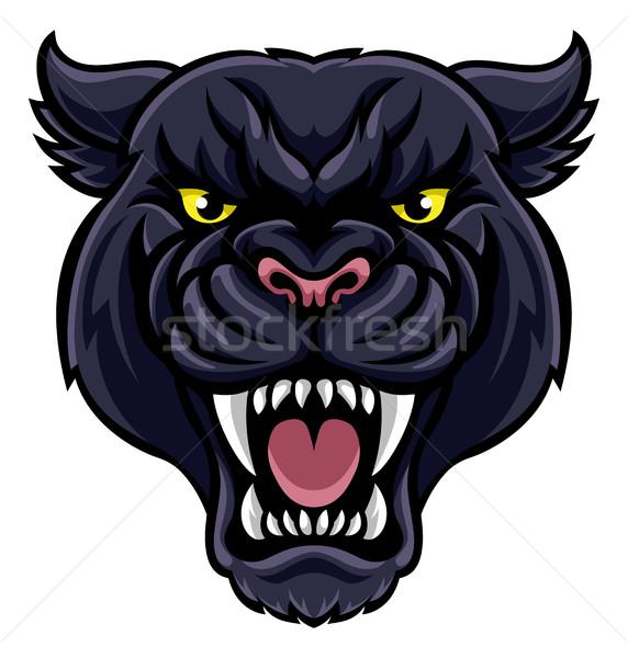 Black Panther Mascot Stock photo © Krisdog