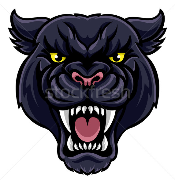 черный Panther талисман сердиться глядя животного Сток-фото © Krisdog
