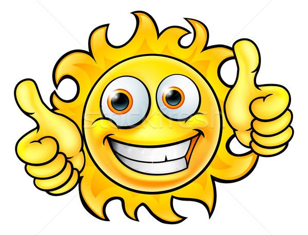 Sun Cartoon Mascot Stock photo © Krisdog