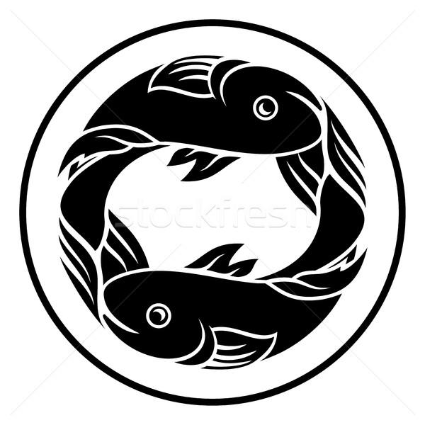 Pisces Fish Zodiac Horoscope Sign Stock photo © Krisdog