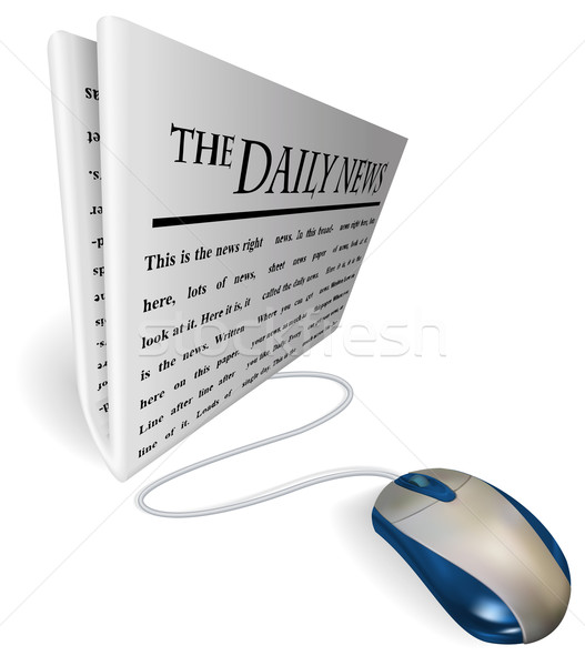 Mouse and  news paper concept Stock photo © Krisdog