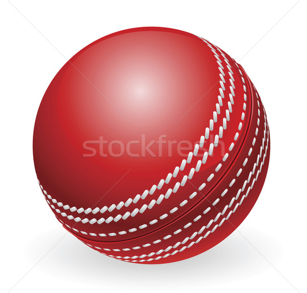 Rood traditioneel cricket bal illustratie Stockfoto © Krisdog