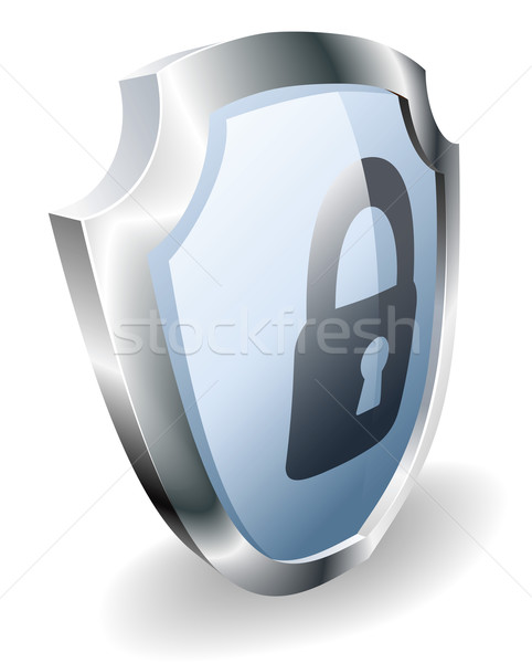 Padlock shield security concept Stock photo © Krisdog