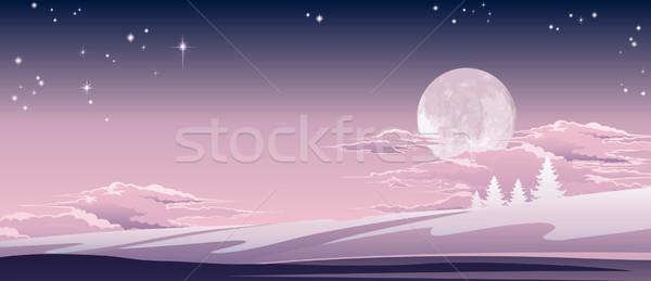 Foto stock: Natal · ilustração · belo · céu · paisagem