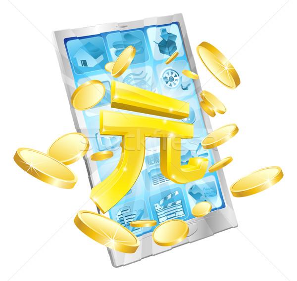 Yuan money phone concept Stock photo © Krisdog