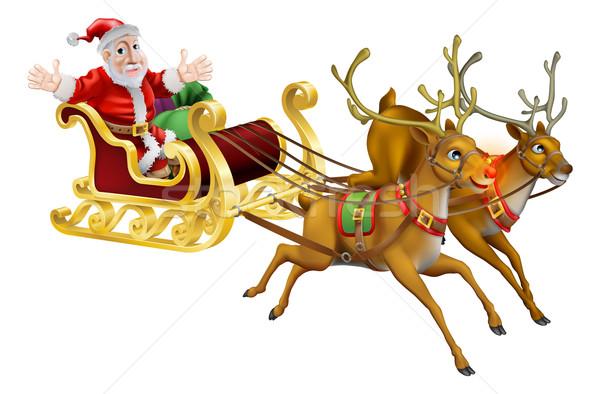 Santa Christmas Sled Stock photo © Krisdog