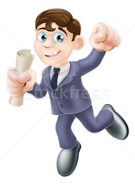 Businessman with scroll Stock photo © Krisdog