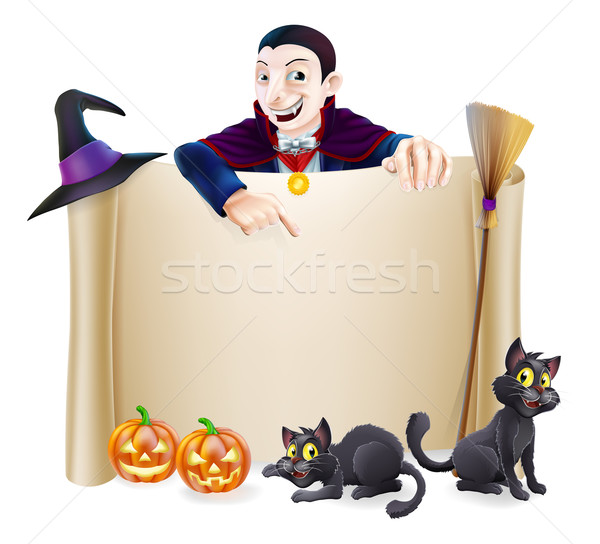 Halloween Dracula Banner Stock photo © Krisdog