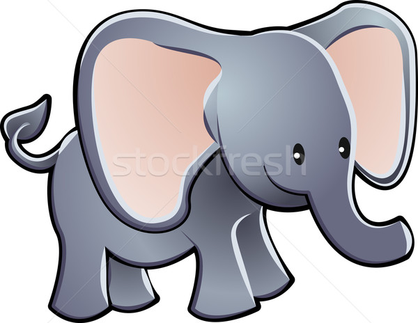 Lovable Elephant Cartoon Vector Illustration Stock photo © Krisdog
