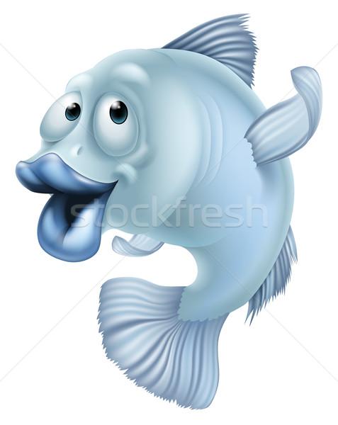 Stock photo: Cartoon fish