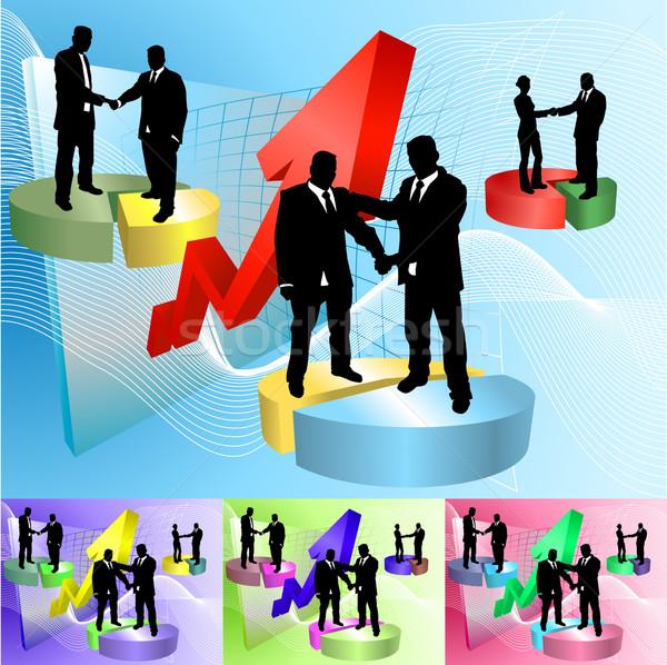 piechart people business concept illustration Stock photo © Krisdog