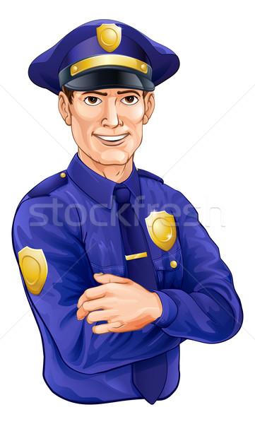 Policeman character Stock photo © Krisdog