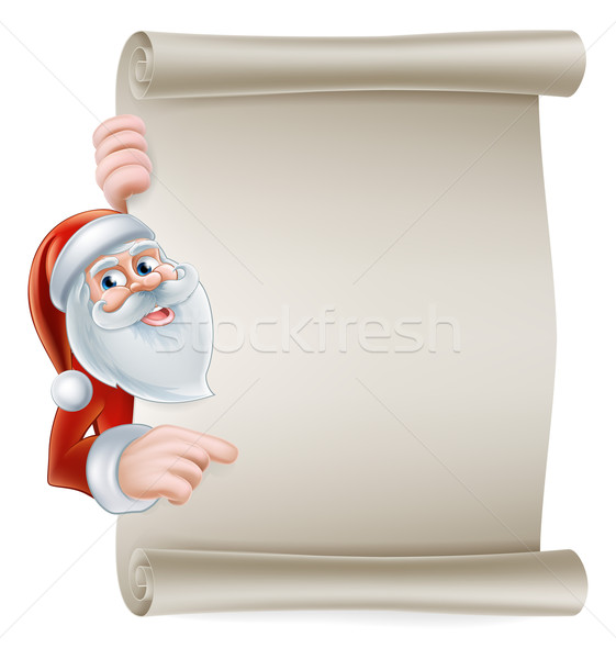 Cartoon santa scroll sign Stock photo © Krisdog