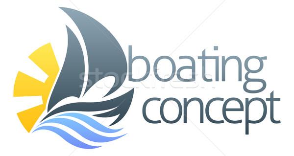 Sail boat concept Stock photo © Krisdog