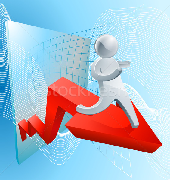 Confidence increasing profit concept Stock photo © Krisdog