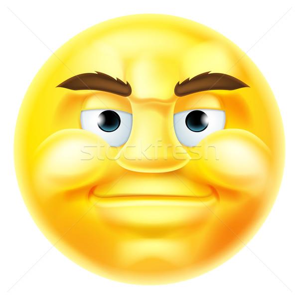 Handsome Smiling Emoji Emoticon Stock photo © Krisdog